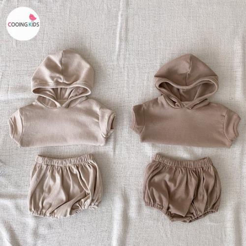 cooingkids-베이비옷 - H썸머후드상하세트♡韓國幼兒裝