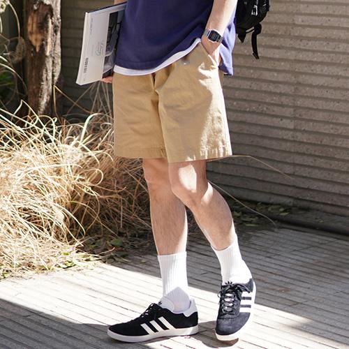 fairplay142-[[6/30배송]사이먼 워싱 린넨 숏팬츠 베이지 KJSP2347]♡韓國男裝褲子