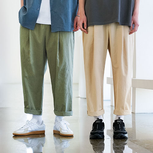 fairplay142-[[에즈카톤][패키지] 바이오워싱 벌룬핏 밴딩팬츠 4종 2pack YMLP6596]♡韓國男裝褲子