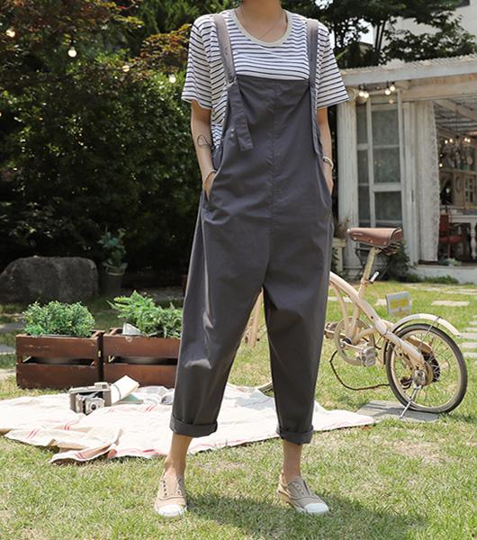 roompacker-룸페커 [펌킨 스트링 오버롤 팬츠]♡韓國女裝褲