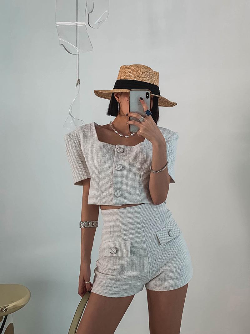 crazygirls-모모스퀘어트위드자켓-jk♡韓國女裝外套