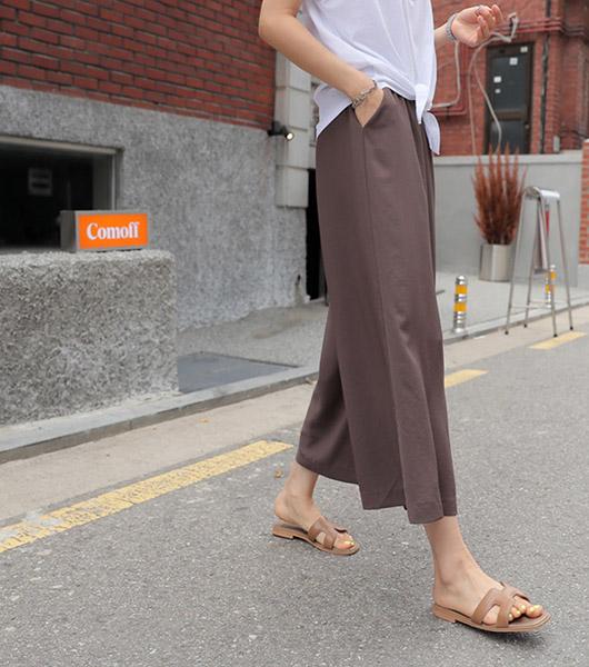 roompacker-룸페커 [마인 쿨링 와이드 밴딩팬츠]♡韓國女裝褲