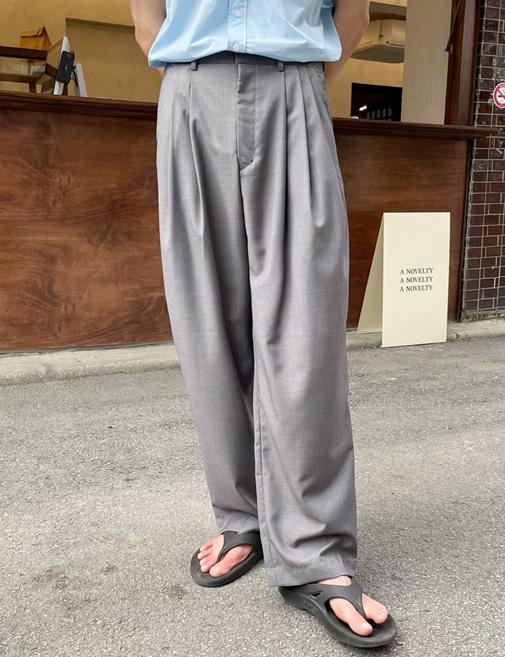 new-more-썸머 벌룬 와이드 슬랙스♡韓國男裝褲子