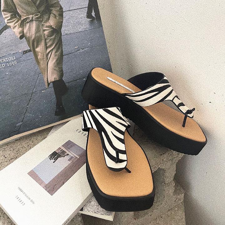 lagirl-송치지브라쪼리-shoes♡韓國女裝鞋