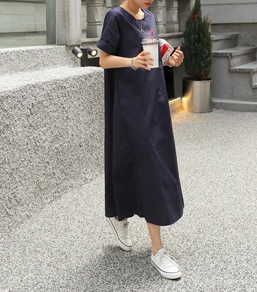 roompacker-룸페커 [심플 절개 루즈핏 원피스]♡韓國女裝連身裙