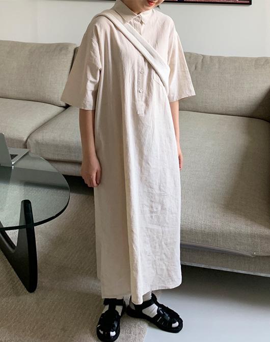 baon-[24시간 new 5% sale] 켄리 린넨 롱 원피스 (3color) - 린넨55♡韓國女裝連身裙