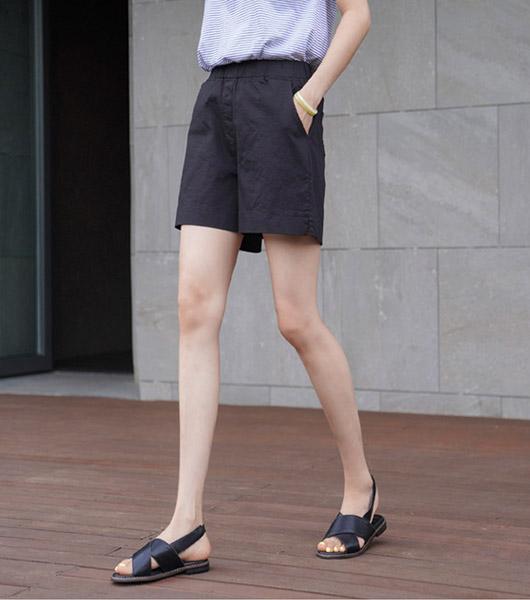 roompacker-룸페커 [[R]피오 올밴딩 4부 반바지]♡韓國女裝褲