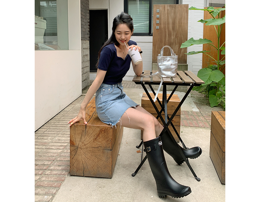 frombeginning-시즌 루버레인부츠 (5color) ♡韓國女裝鞋