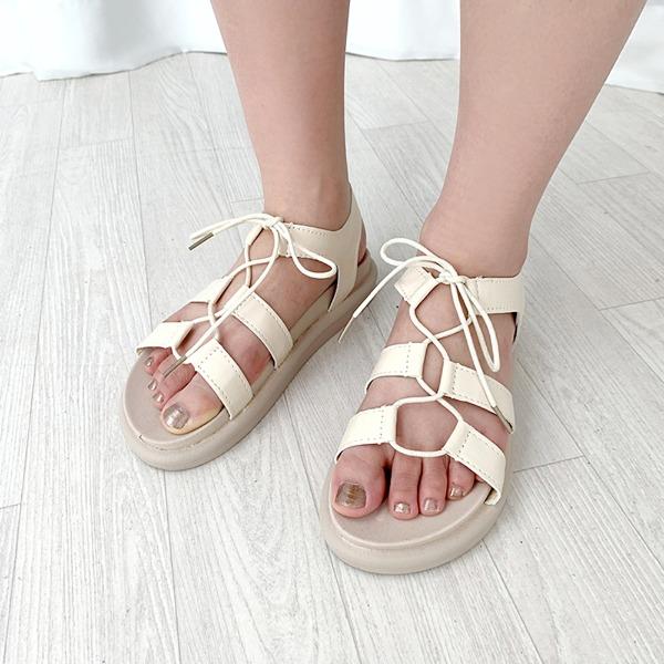 bullang-[여름핫템] 꼬임 리본 샌들♡韓國女裝鞋