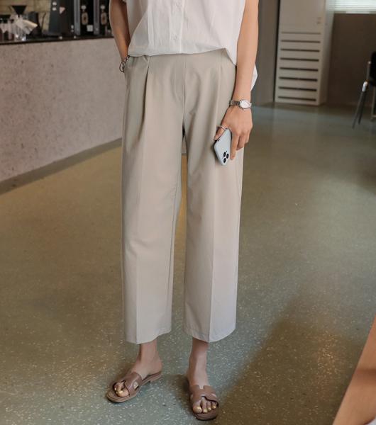 roompacker-룸페커 [[R]사각사각 핀턱 7부 팬츠]♡韓國女裝褲