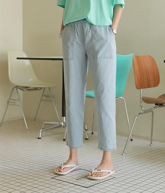 roompacker-룸페커 [레오 스티치 포켓 데님팬츠]♡韓國女裝褲
