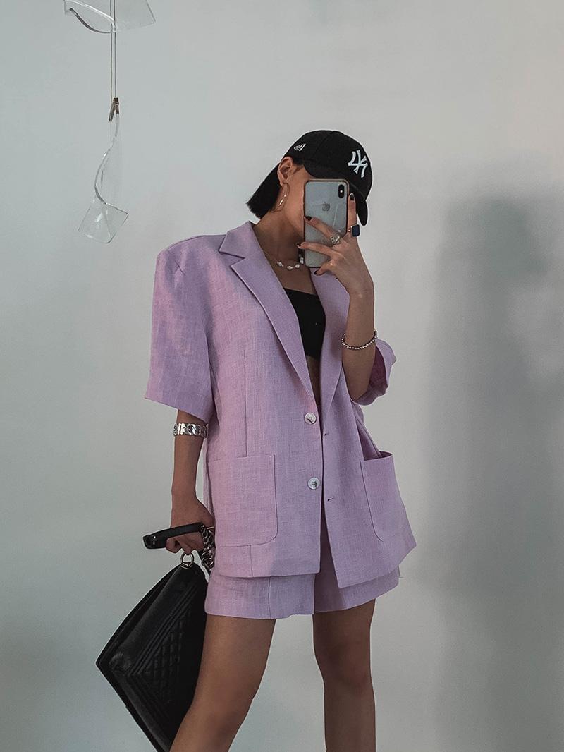 crazygirls-샌드린넨자켓-jk♡韓國女裝外套