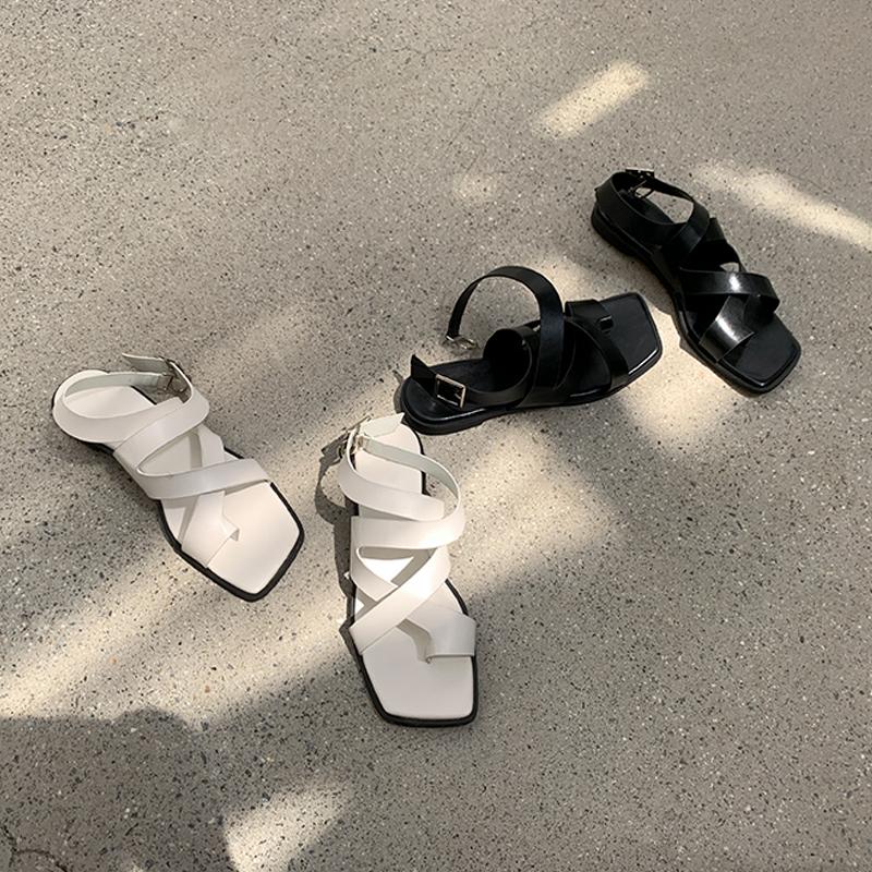 45th-꼬임스퀘어샌들 ♡韓國女裝鞋