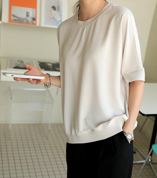 roompacker-룸페커 [주니 시보리 쿨링 블라우스]♡韓國女裝上衣