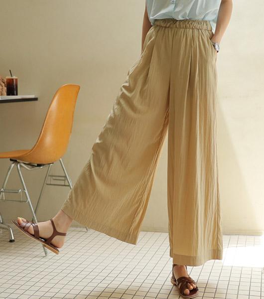 roompacker-룸페커 [코지 레이온 더블터크 큐롯팬츠]♡韓國女裝褲