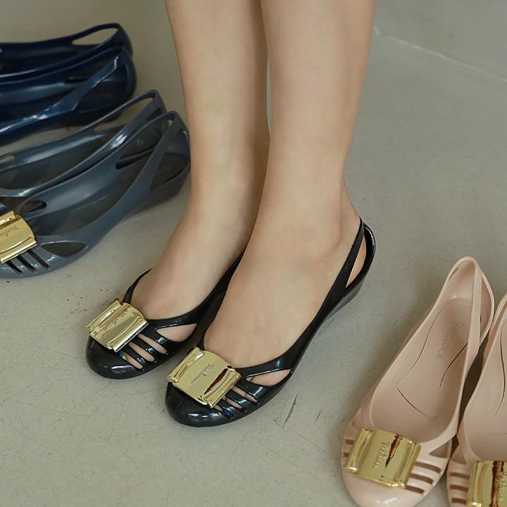 lemite-골드말랑 젤리슈즈(특가상품)♡韓國女裝鞋