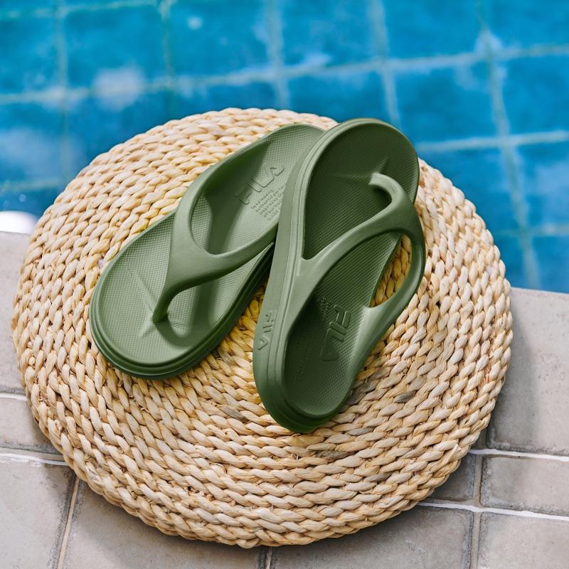 韓國FILA SUFFY THONG 拖鞋 (卡其綠色)
