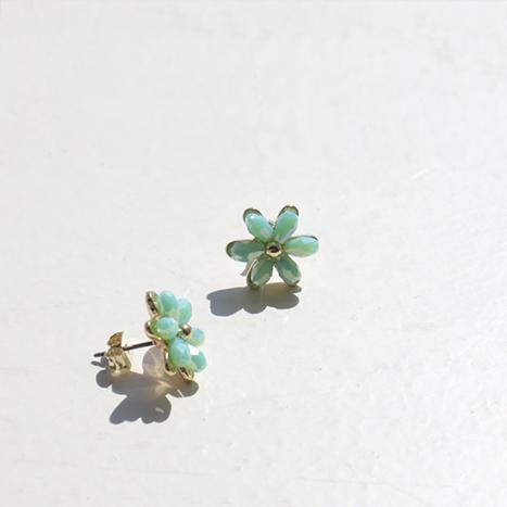 leelin-[꽃핀여름 플라워 귀걸이]♡韓國女裝飾品