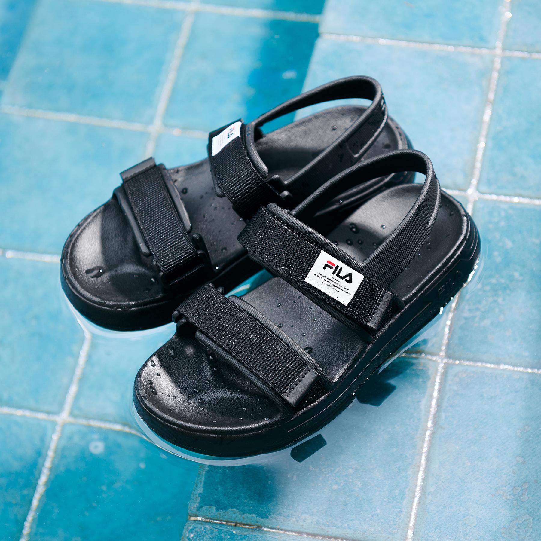 韓國FILA SUFFY SANDAL 男/女裝涼鞋 (黑色)