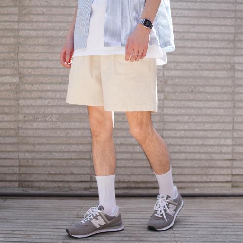 fairplay142-[사이먼 워싱 린넨 숏팬츠 아이보리 KJSP2347]♡韓國男裝褲子