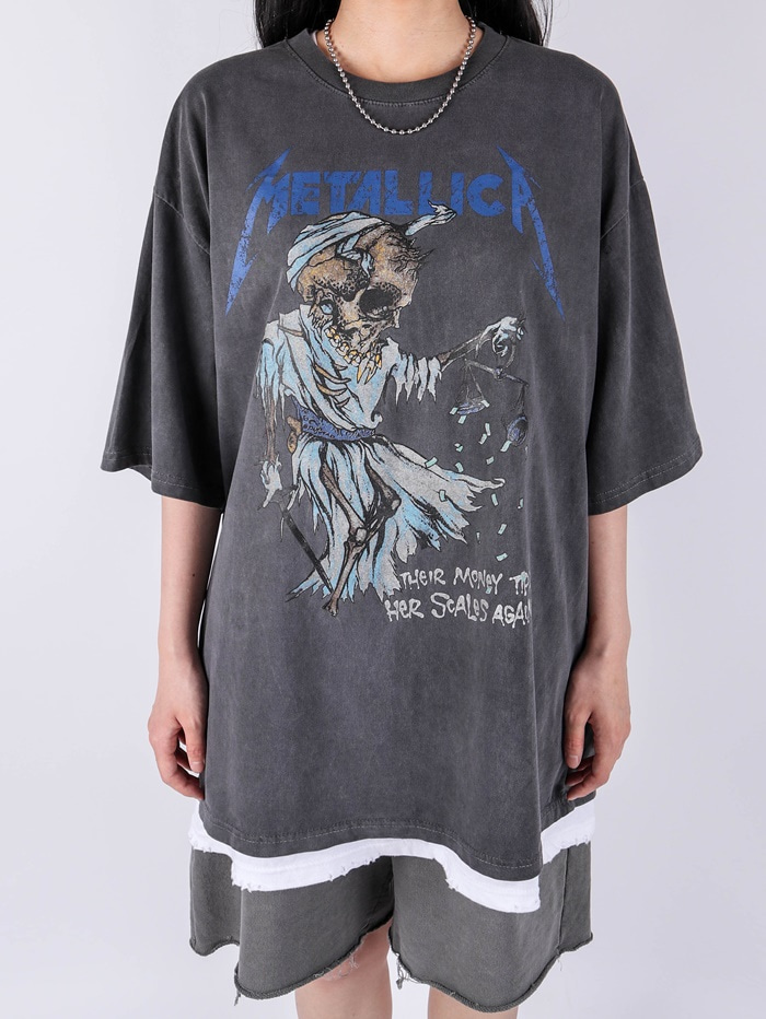 justyoung-AC Money Tips Dying Short Sleeve Tee (2color)♡韓國男裝上衣