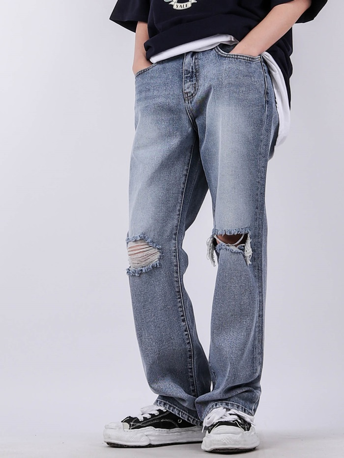 justyoung-TR 82 Open Relief Bootcut Jeans♡韓國男裝褲子