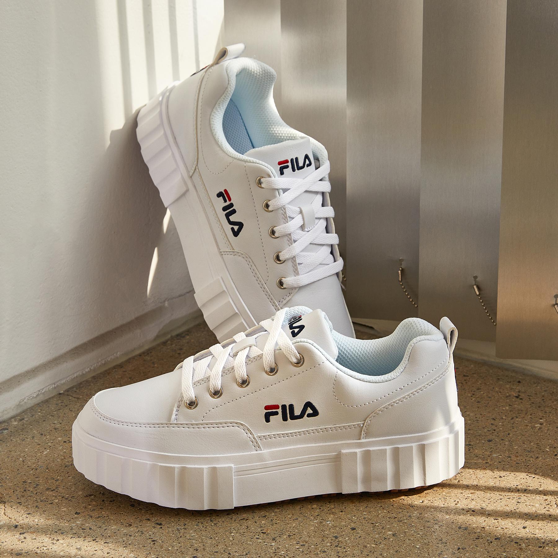 韓國FILA SAND BLAST ROW 餅乾鞋 (白色)