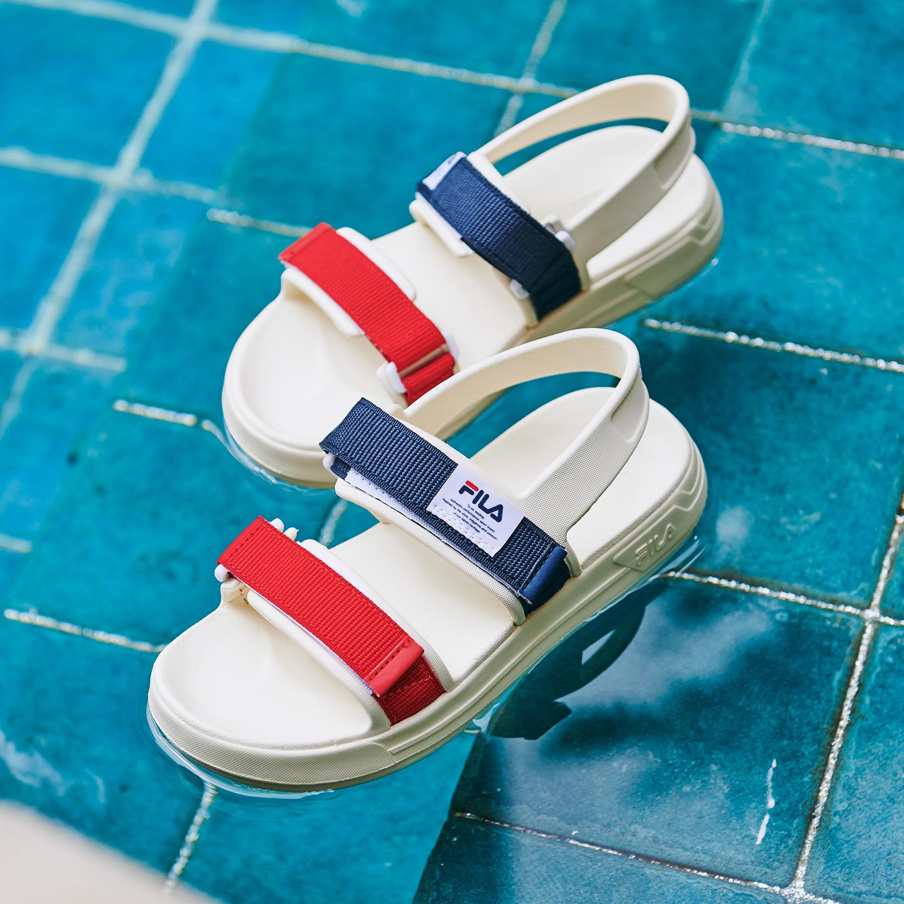 韓國FILA SUFFY SANDAL 男/女裝涼鞋 (紅藍色)
