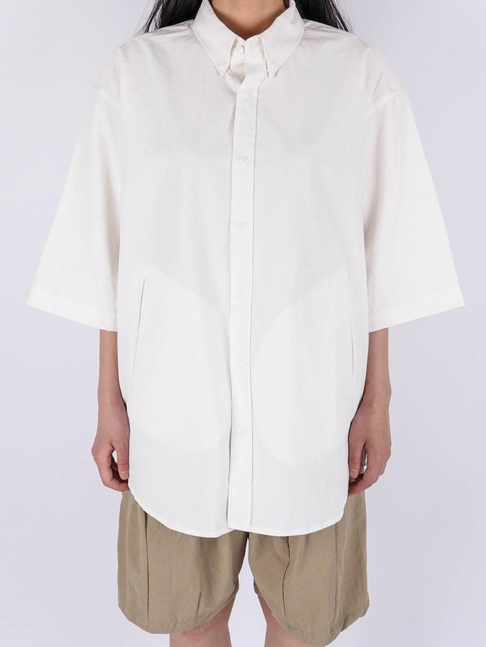 justyoung-NT Pocket Over Short Sleeve Shirt (2color)♡韓國男裝上衣