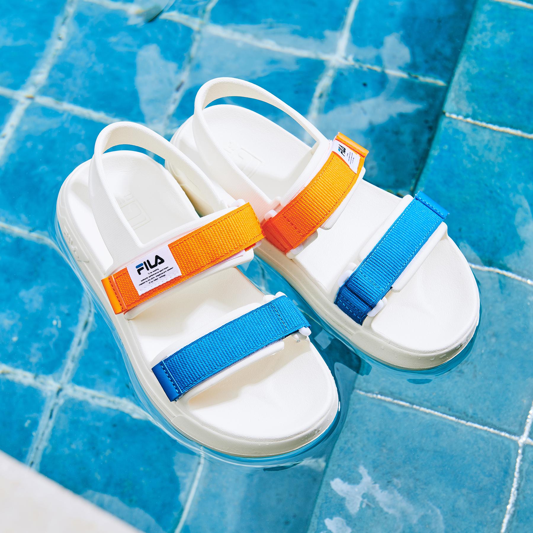 韓國FILA SUFFY SANDAL 男/女裝涼鞋 (藍橙色)