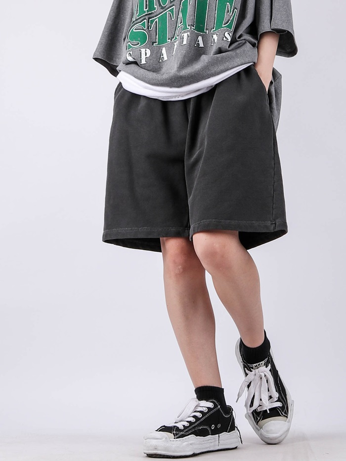 justyoung-AC Wide Dying Shorts (3color)♡韓國男裝褲子