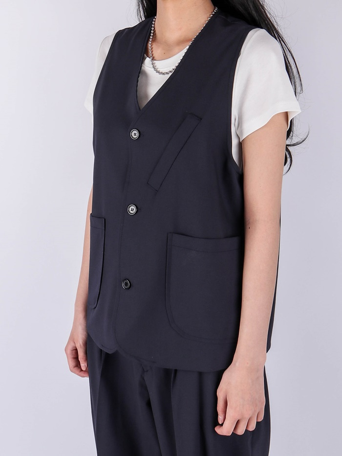 justyoung-TS Bermuda Setup Vest (2color)♡韓國男裝上衣