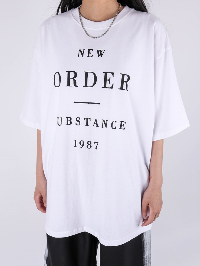 justyoung-AC New Order 1987 Short Sleeve Tee (2color)♡韓國男裝上衣