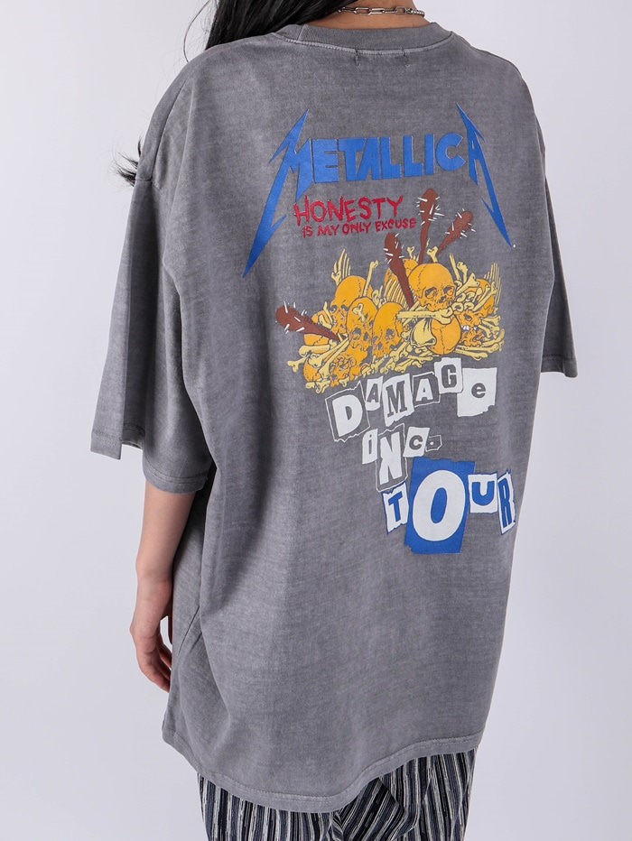 justyoung-AC Metallica Tour Short Sleeve Tee (2color)♡韓國男裝上衣