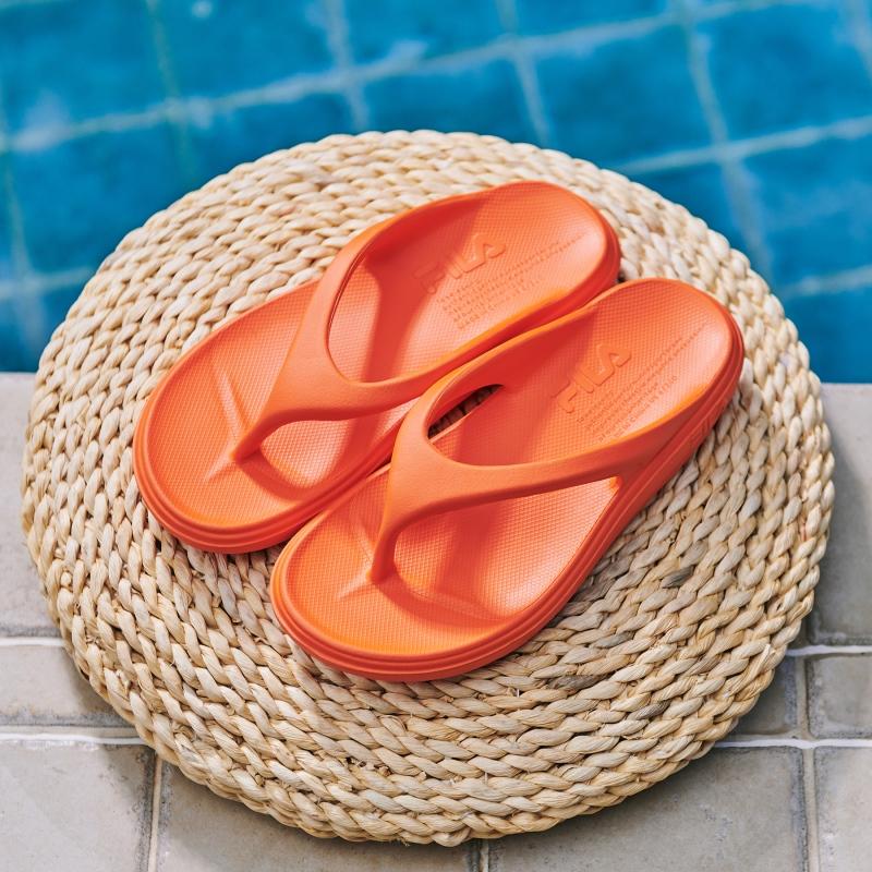 韓國FILA SUFFY THONG 拖鞋 (熒光橙色)