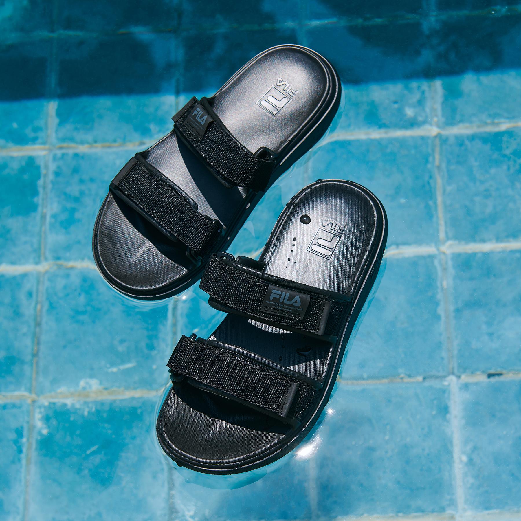 韓國FILA SUFFY SANDAL 女裝拖鞋 (黑色)