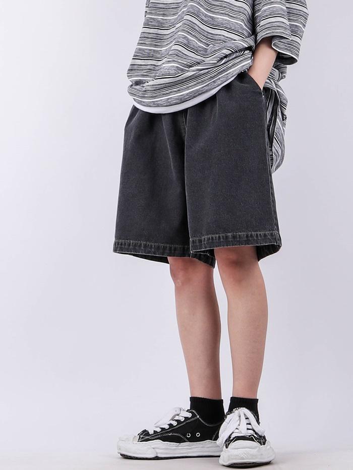 justyoung-PC Bio Denim Shorts (2color)♡韓國男裝褲子