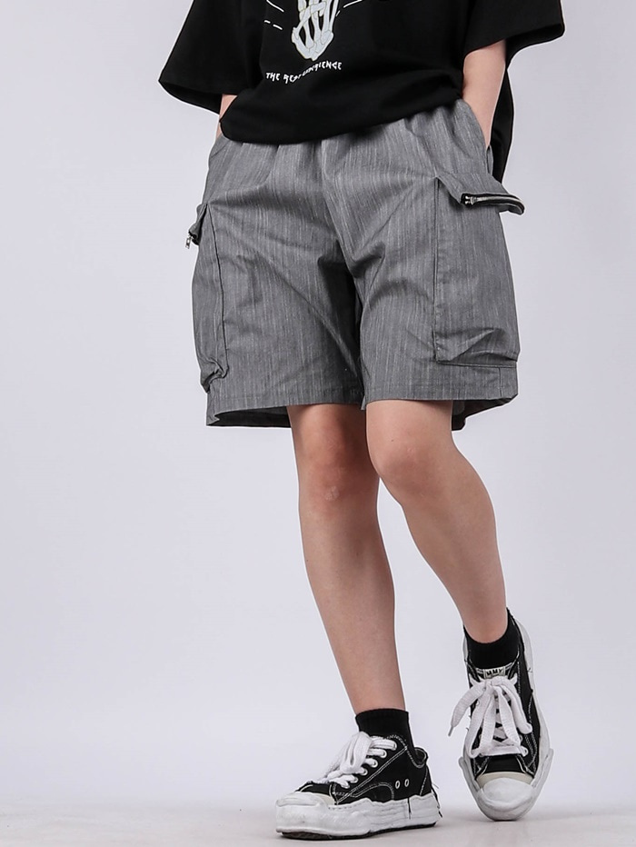 justyoung-GE Zip Pocket Shorts (2color)♡韓國男裝褲子