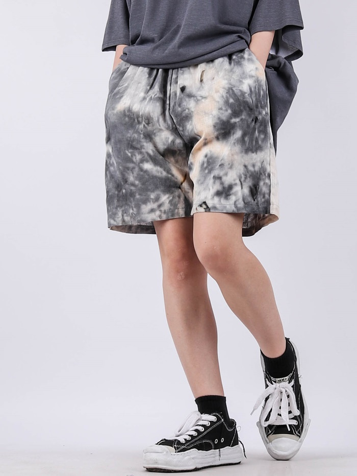 justyoung-GE Water Print Shorts (2color)♡韓國男裝褲子