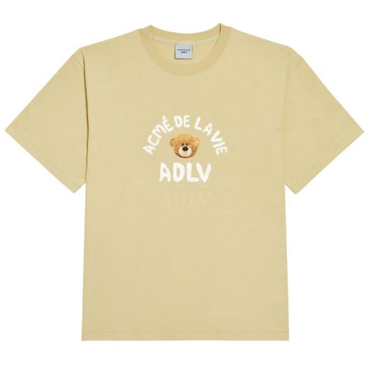 acmedelavie-[아크메드라비] TEDDY BEAR (BEAR DOLL) SHORT SLEEVE T-SHIRT BEIGE♡韓國男裝上衣