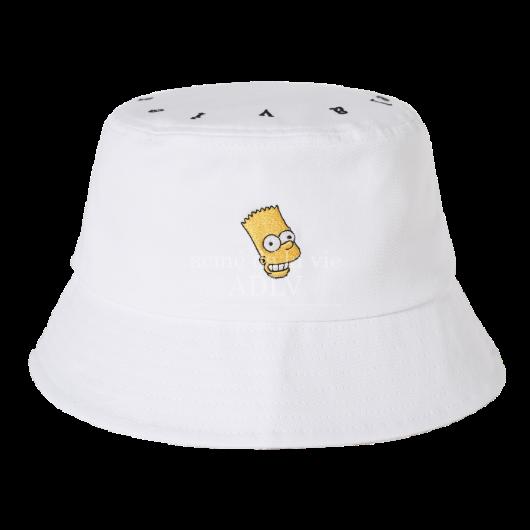 acmedelavie-[ADLV X SIMPSONS] BART BUCKET HAT WHITE♡韓國男裝飾品