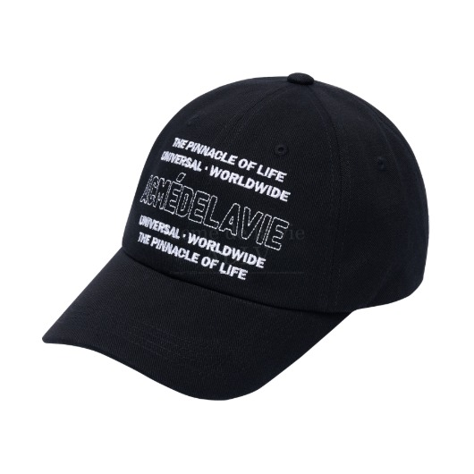 acmedelavie-[아크메드라비] UNIVERSAL WORLDWIDE BALL CAP BLACK♡韓國男裝飾品