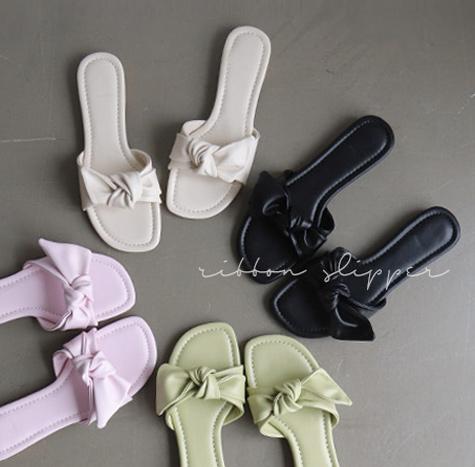 leelin-[바네스 파스텔 스퀘어 슬리퍼]♡韓國女裝鞋
