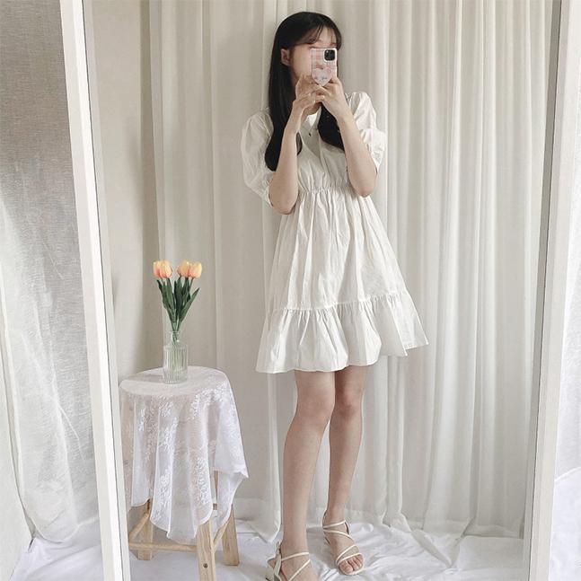 sonyunara-몽비 러블리 퍼프 캉캉 원피스♡韓國女裝連身裙