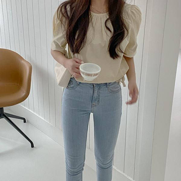 realcoco-♥NEW10%할인♥카루 셔링 스트링 블라우스(하객룩/데이트룩/페미닌)♡韓國女裝上衣