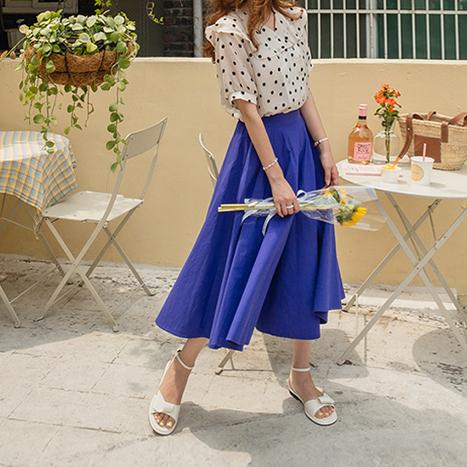 leelin-[판타지아 플레어 스커트 팬츠[size:F(55~66반)]]♡韓國女裝褲