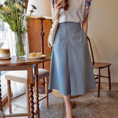 leelin-[베네치아 럭스트임 신축 스커트[size:F(55~66)]]♡韓國女裝裙