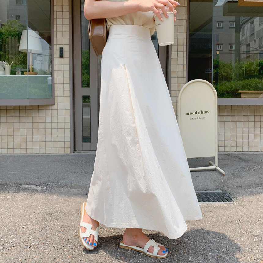 envylook-퓨린플레어밴딩롱스커트♡韓國女裝裙