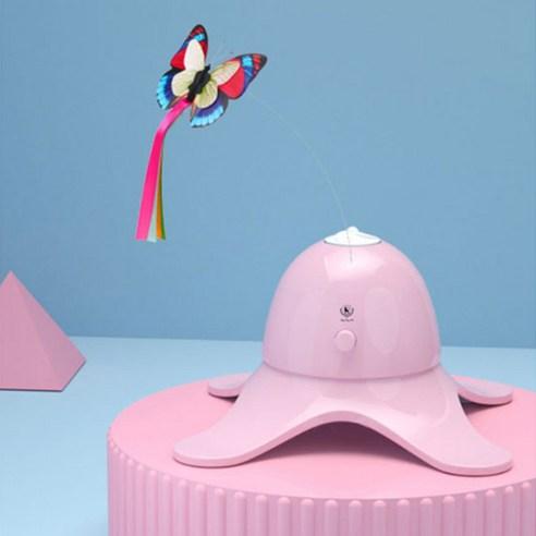 딩동펫 고양이 움직이는 나비 장난감핑크