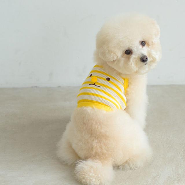 jeramypet-(S-2XL/6컬러) 엔돌펫 와플소재 코볼티 크롭 나시티 강아지 여름옷♡寵物衫